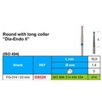 """D802K/1.4 - Round with long collar """"Dia-Endo II"""""""